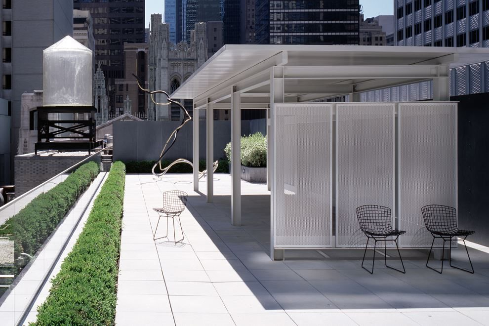 terrace overlooking the MoMA