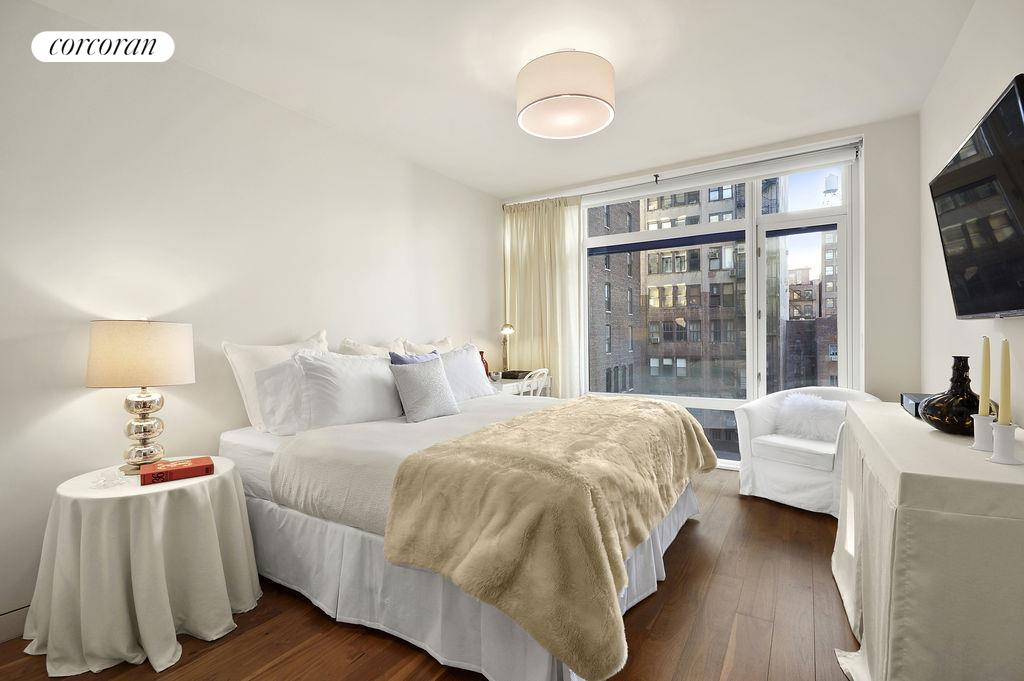 151 West 21st Street, 7D, Spacious living room with open views