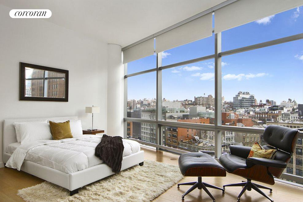 Master bedroom with panoramic views