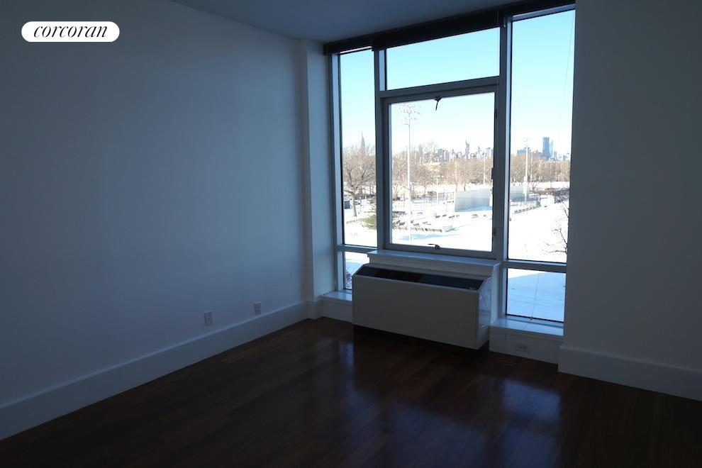 Large Bedroom w. Views of McCarren Park & Skyline