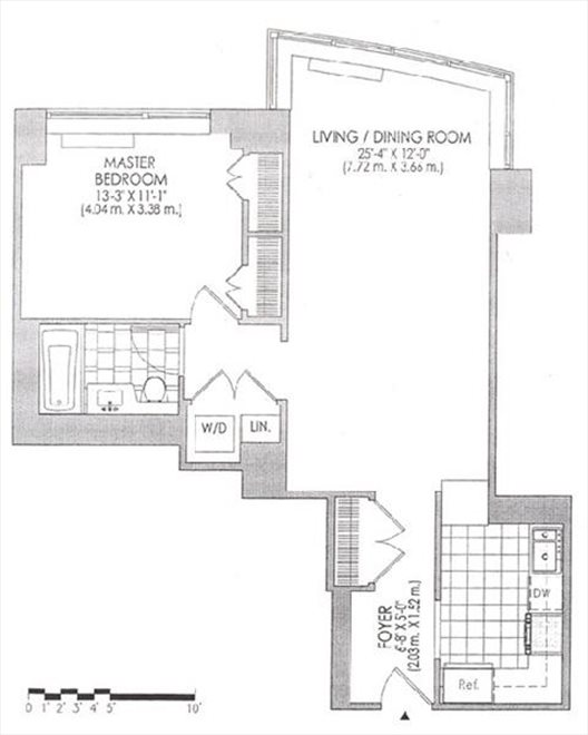 New York City Real Estate | View 120 Riverside Blvd, #11M | Floorplan