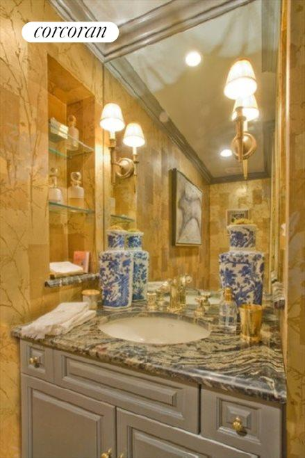 Lavish powder room