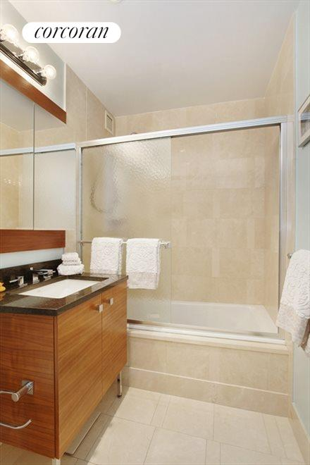 New York City Real Estate | View 120 Riverside Blvd, #11M | Master Bathroom