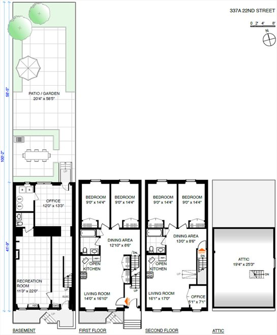 New York City Real Estate | View 337A 22ND ST | Floorplan