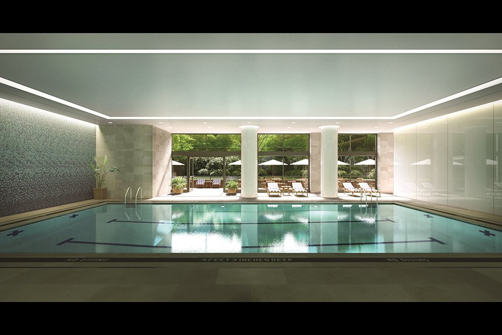 Carnegie Park | 200 East 94th Street | Three-Lane Pool Opening to Patio & Private Park