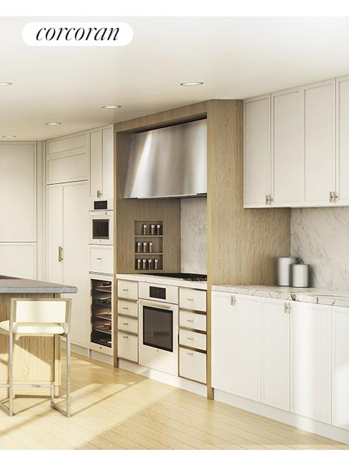 212 WARREN ST, 6E, CetraRuddy-designed Kitchen with Marble Countertop