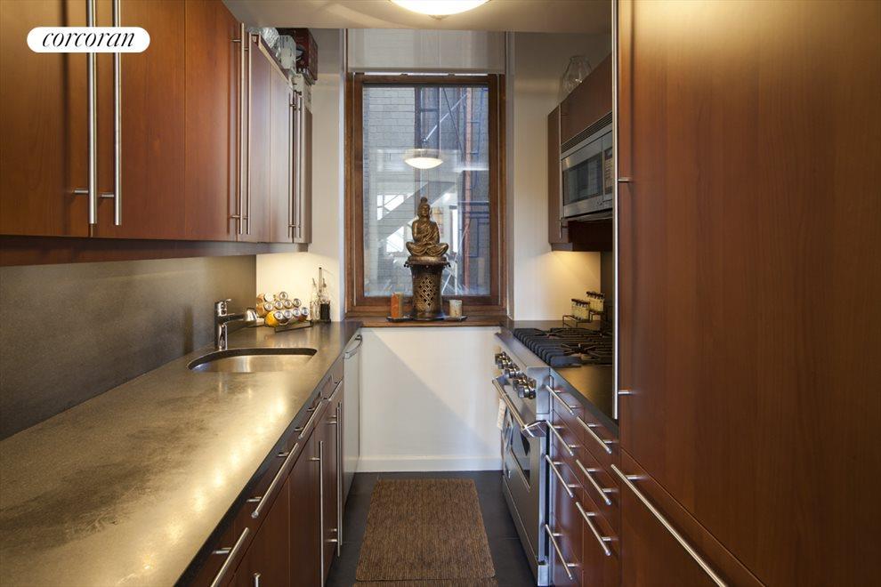 Large Windowed Galley Kitchen