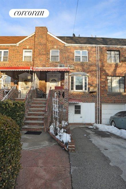 Brick, porch, bay window, driveway, sep entrance