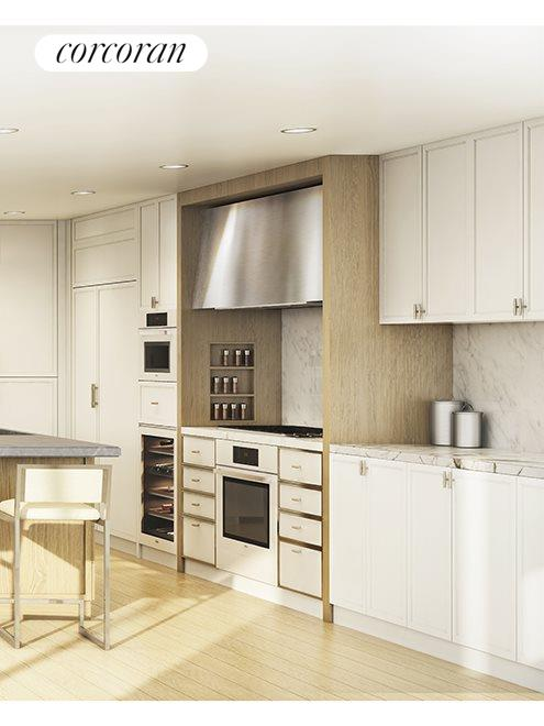 212 WARREN ST, 10N, CetraRuddy-designed Kitchen with Marble Countertop