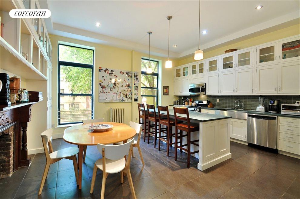 Huge, live-in windowed kitchen