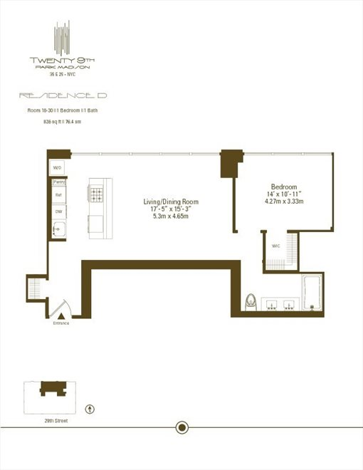 New York City Real Estate | View 39 East 29th Street, #24D | Floorplan