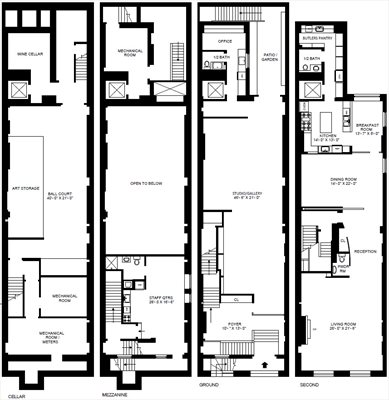 New York City Real Estate | View 49 East 68th Street | Floorplan 1