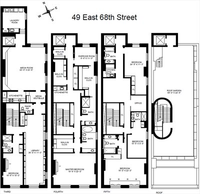 New York City Real Estate | View 49 East 68th Street | Floorplan 2