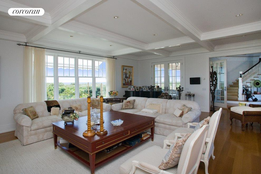 Living Room With Fireplace and Oceanviews