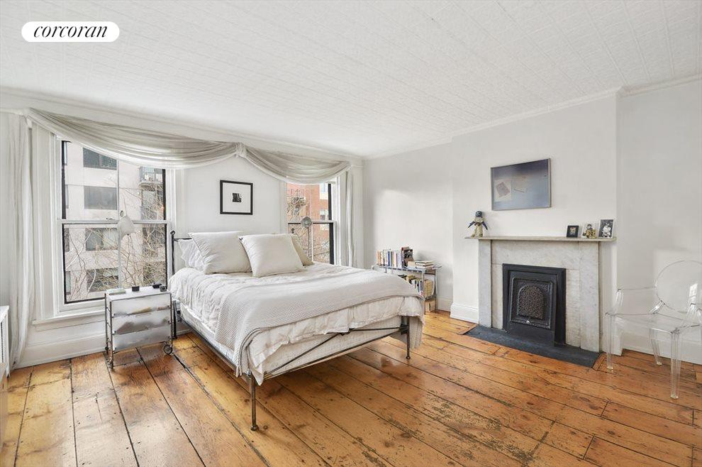 Master bedroom has gracious proportions