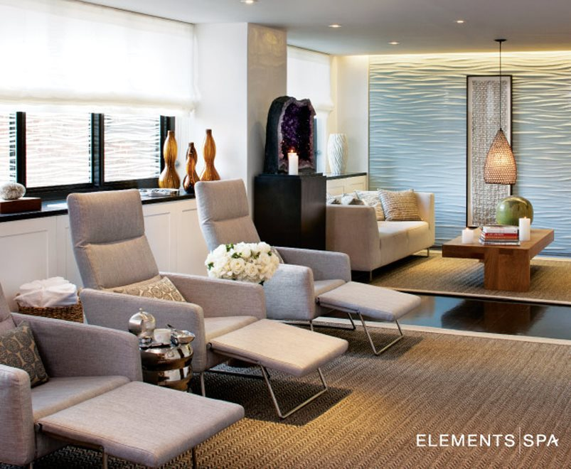 Elements Spa with facials, massages, and much more