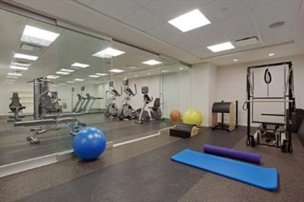 Full fitness center with pilates and yoga studio