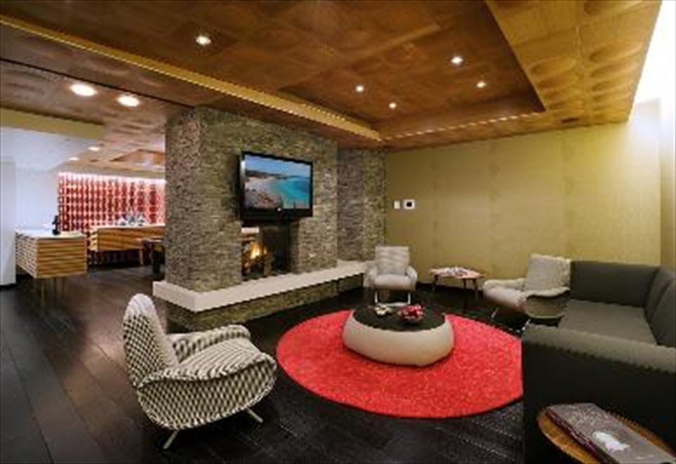 Resident's lounge has  a fireplace and billiards