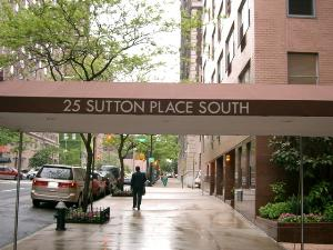 Entrance to 25 Sutton Place South