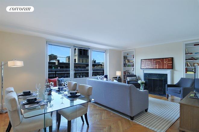 Corcoran 49 east 86th street apt 17c carnegie hill for Living room 86th st