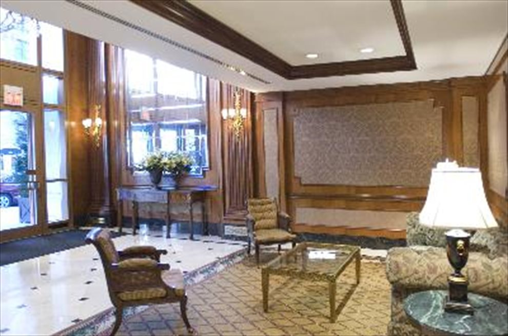 Wood Paneled Attended Lobby