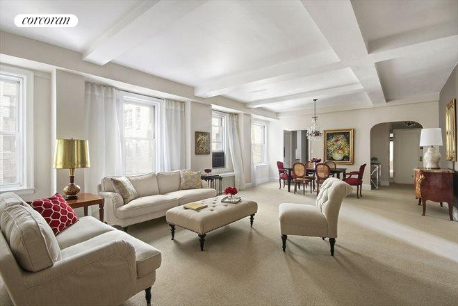 Corcoran 1035 fifth avenue apt 11e upper east side for Living room 86th street