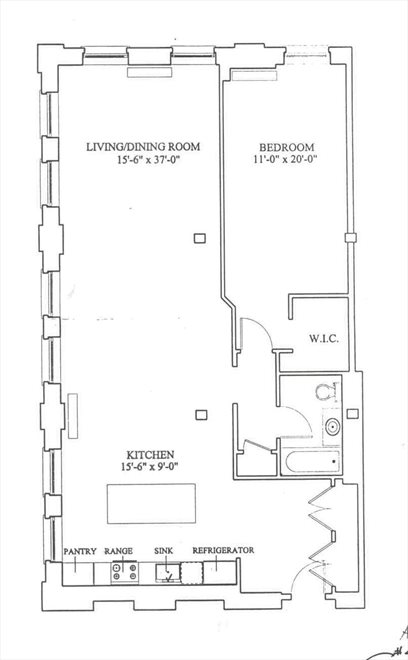 New York City Real Estate | View 81 Washington Street, #4G | Floorplan