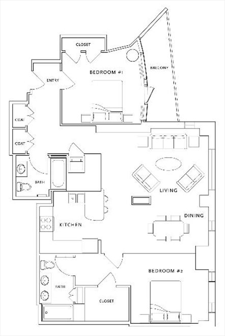 New York City Real Estate | View 250 East 49th Street, #3E | Floorplan