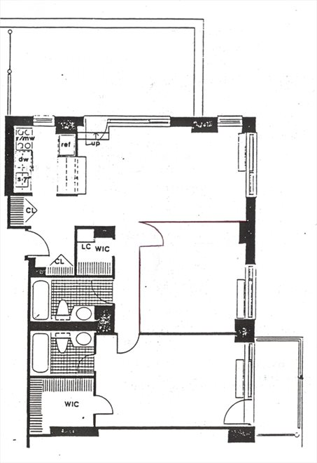 New York City Real Estate | View 270 West 17th Street, #19C | Floorplan 2