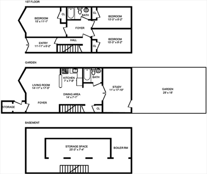 New York City Real Estate | View 474 Waverly Avenue, #1 | Floorplan