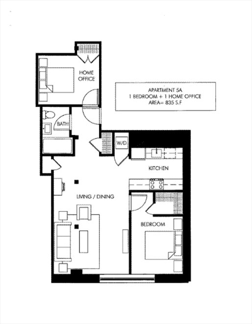 New York City Real Estate | View 72 Berry Street, #5A | Floorplan