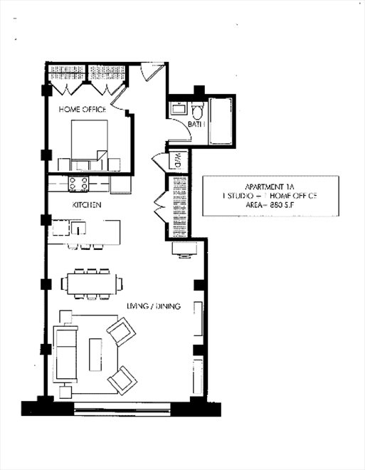 New York City Real Estate | View 72 Berry Street, #1A | Floorplan