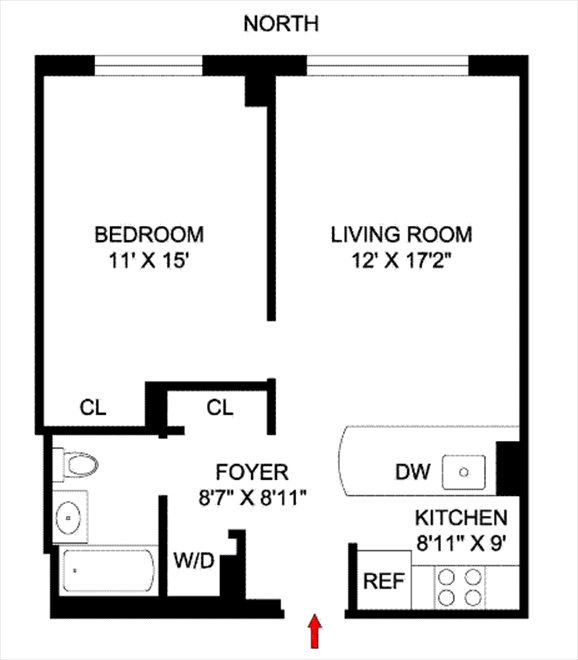 New York City Real Estate | View 555 West 23rd Street, #N8H | Floorplan