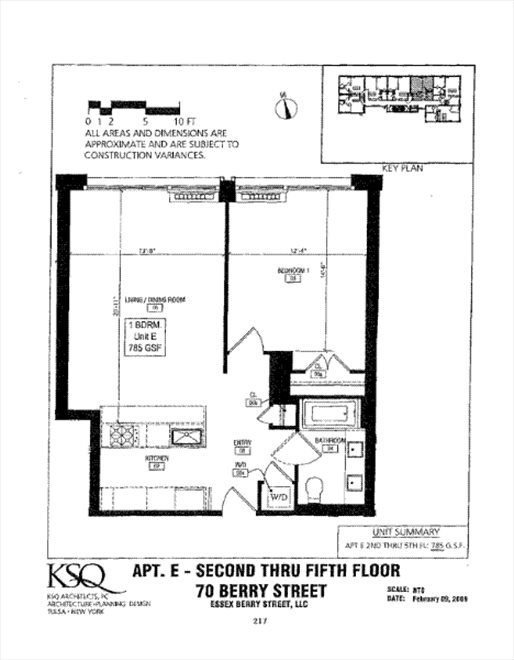 New York City Real Estate | View 70 Berry Street, #5E | Floorplan