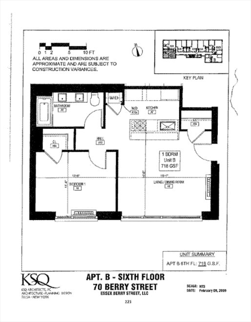 New York City Real Estate | View 70 Berry Street, #6B | Floorplan