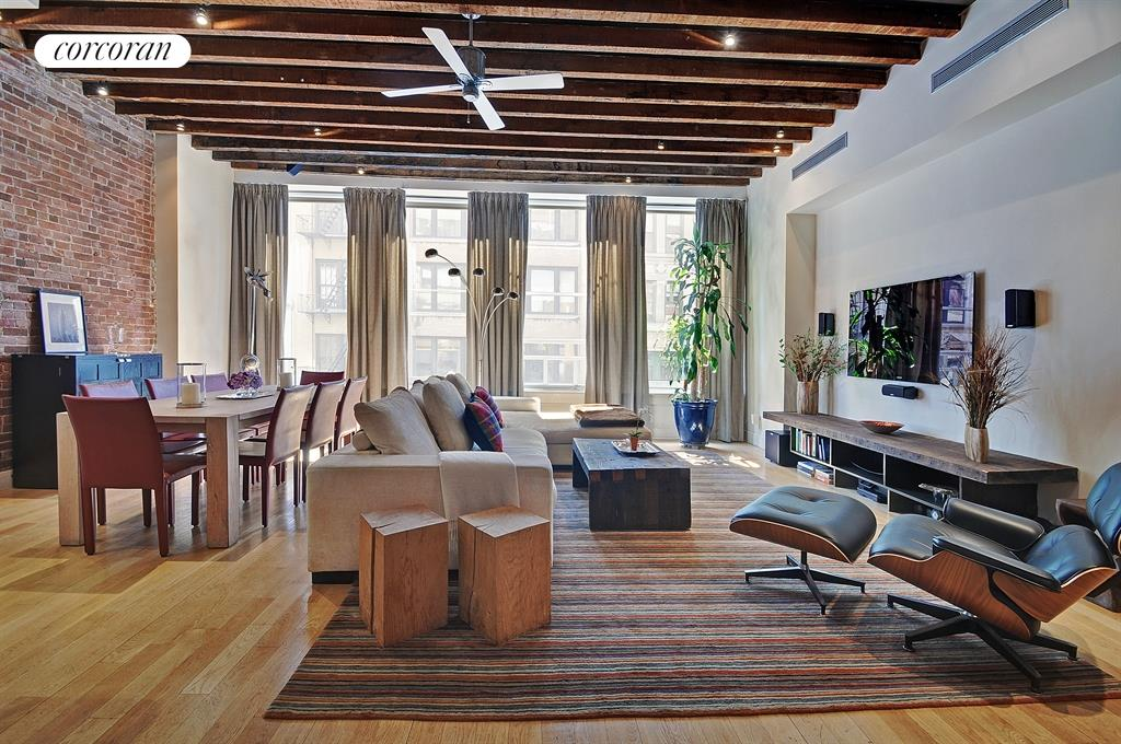 35 West 20th Street, 3 FL, Living Room / Dining Room