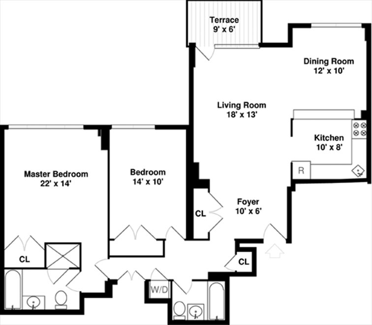 New York City Real Estate | View 22 West 15th Street, #PHB | Floorplan
