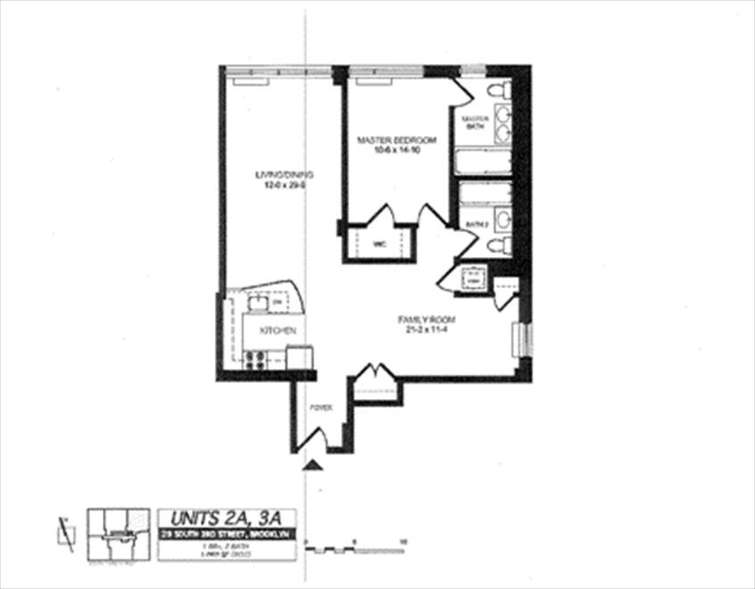 New York City Real Estate | View 29 South 3rd Street, #2A | Floorplan
