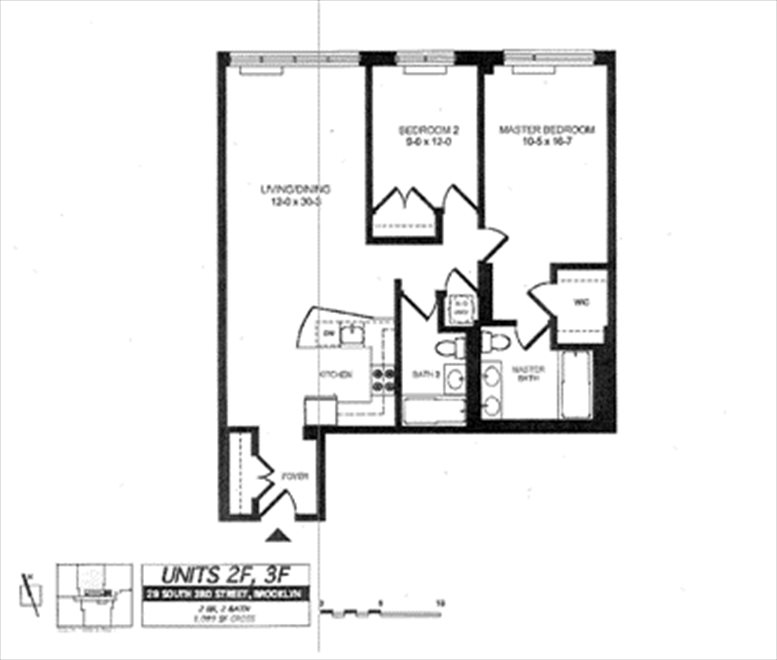 New York City Real Estate | View 29 South 3rd Street, #2F | Floorplan