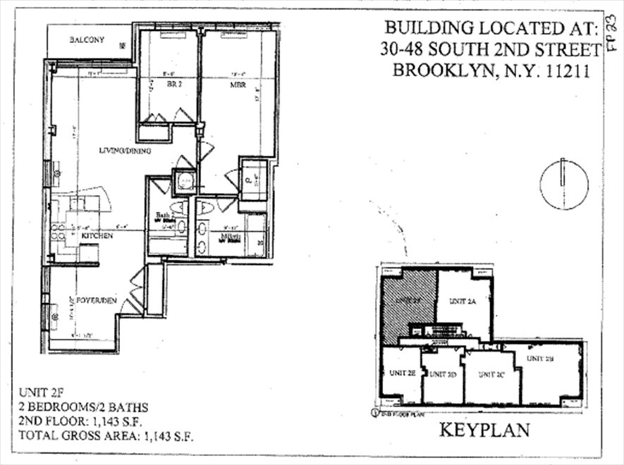 New York City Real Estate | View 46 South 2nd Street, #2F | Floorplan