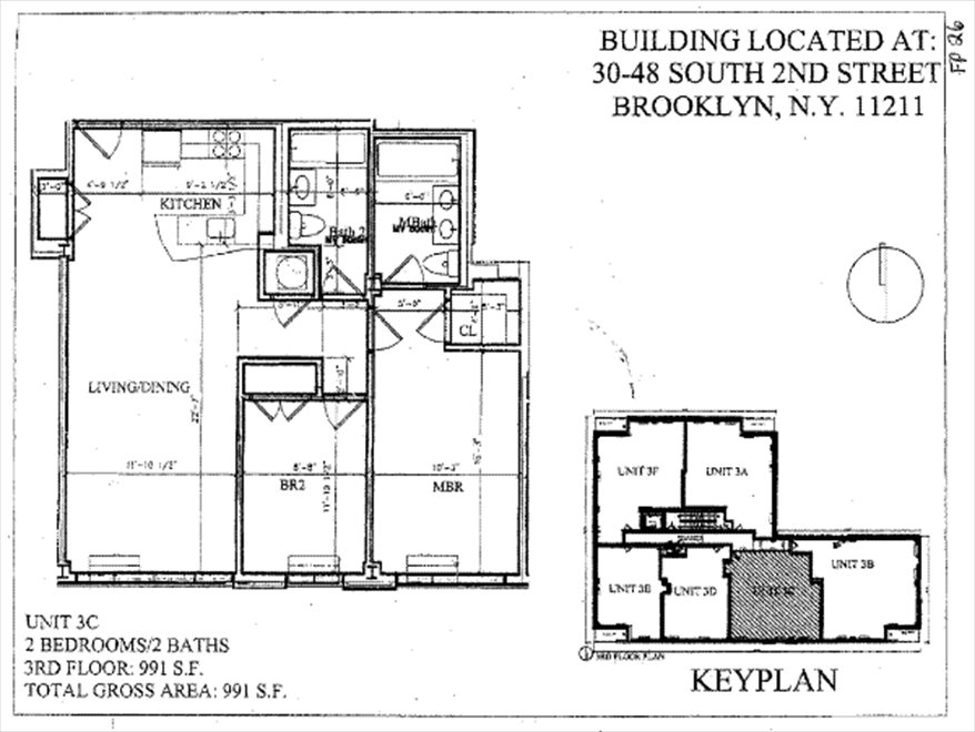 New York City Real Estate | View 46 South 2nd Street, #3C | Floorplan