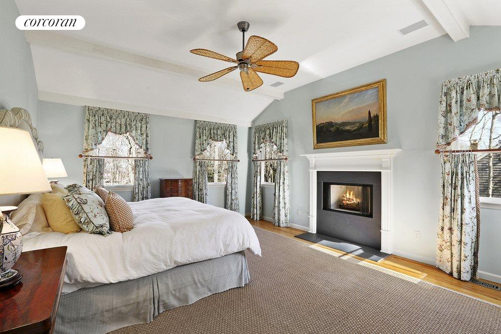 Lovely master suite with fireplace