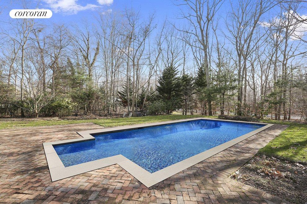 Heated pool, with stunning seasonal landscaping