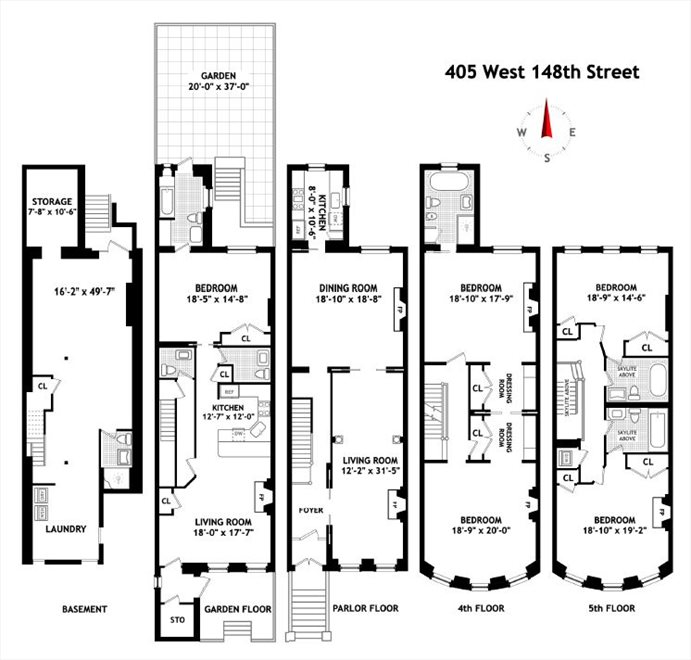 New York City Real Estate | View 405 West 148th Street | Floorplan