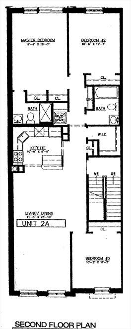 New York City Real Estate | View 221 Union Street, #2A | Floorplan