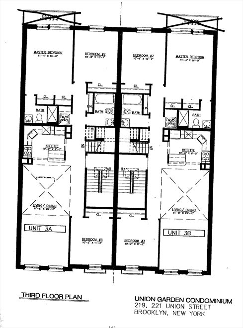 New York City Real Estate | View 221 Union Street, #3A | Floorplan 1