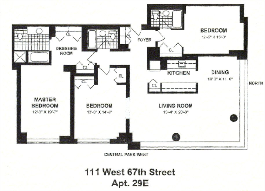New York City Real Estate | View 111 West 67th Street, #29E | Floorplan