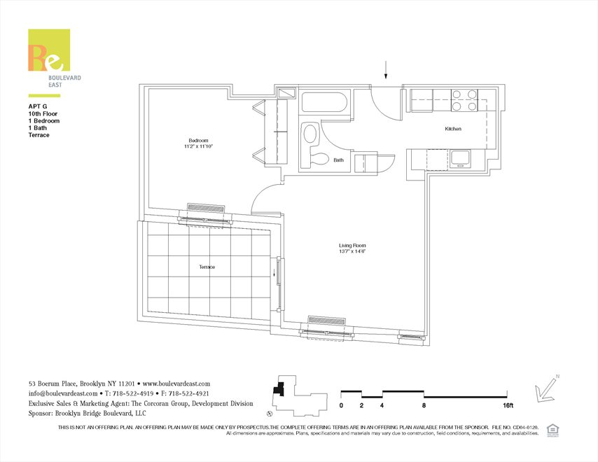 New York City Real Estate | View 53 Boerum Place, #10G | Floorplan