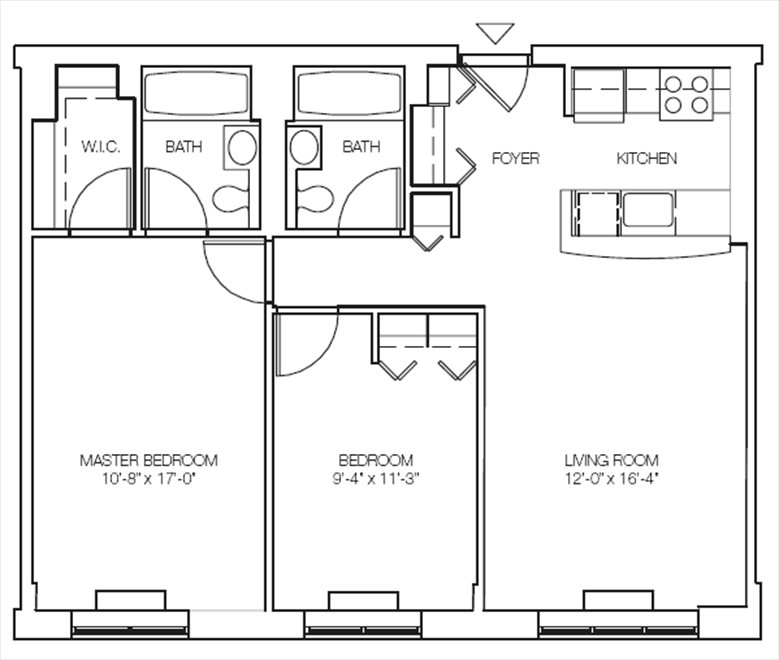 New York City Real Estate | View 516 West 47th Street, #S1H | Floorplan