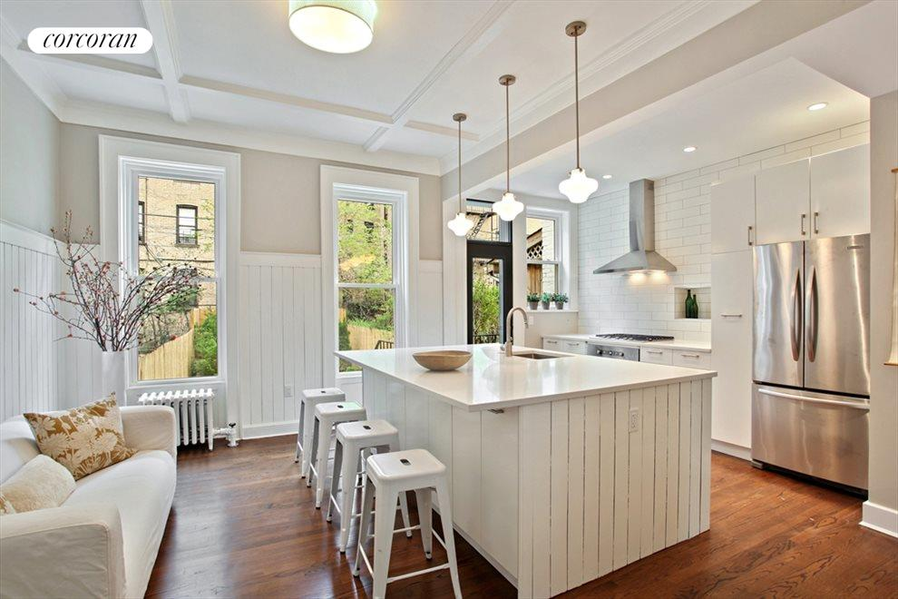 Kitchen with Oversized Island and Storage